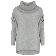 Buy Phase Eight Lila Cowl Neck Jumper, Grey Marl Online at johnlewis.com