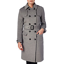 Buy Phase Eight Jillian Belted Trench Coat, Grey Online at johnlewis.com