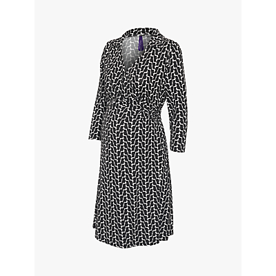 Séraphine Georgina Wrap Maternity Nursing Dress, Black/White