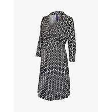 Buy Séraphine Georgina Wrap Maternity Nursing Dress, Black/White Online at johnlewis.com