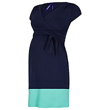 Buy Séraphine Enja Colour Block Maternity Nursing Dress, Navy Online at johnlewis.com