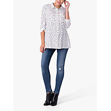 Buy Séraphine Happy Polka Dot Maternity Nursing Blouse, White/Black Online at johnlewis.com