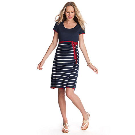 Buy Séraphine Hillary Maternity Stripe Dress, Navy/White Online at johnlewis.com