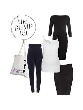 Buy Seraphine Maternity The London Bump Kit, Black/White, S Online at johnlewis.com
