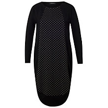 Buy Chesca Dot Jacquard Jersey Dress, Black Online at johnlewis.com