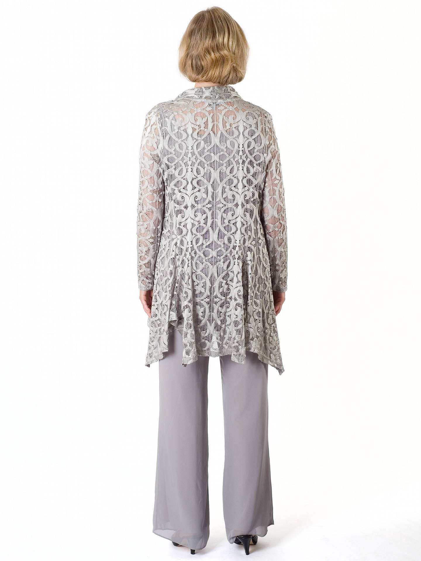 Buy Chesca Stretch Lace Shrug, Silver Grey, 12-14 Online at johnlewis.com