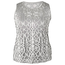 Buy Chesca Stretch Lace Cami, Silver Grey Online at johnlewis.com