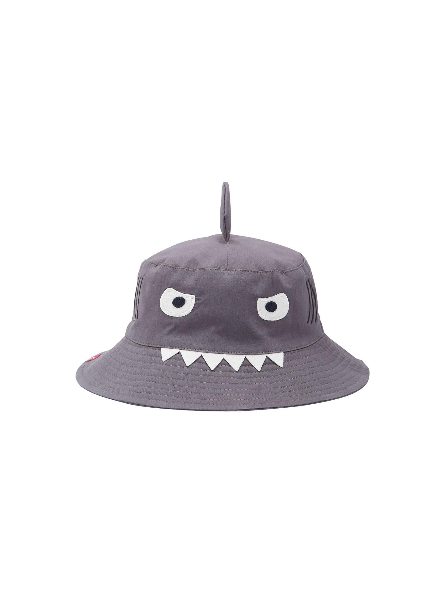 6ac107fc Buy Little Joule Children's Hat Attack Shark Bucket Hat, Khaki, S/M Online  ...