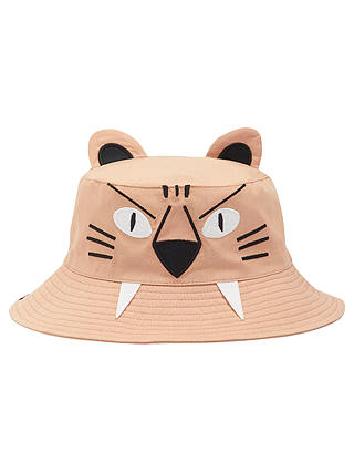 Buy Little Joule Children's Hat Attack Tiger Bucket Hat, Natural, S/M Online at johnlewis.com