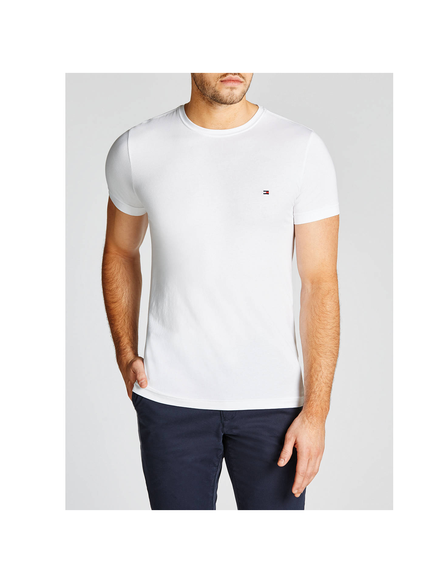 d05ba15fa Buy Tommy Hilfiger Crew Neck T-Shirt, Classic White, S Online at johnlewis  ...