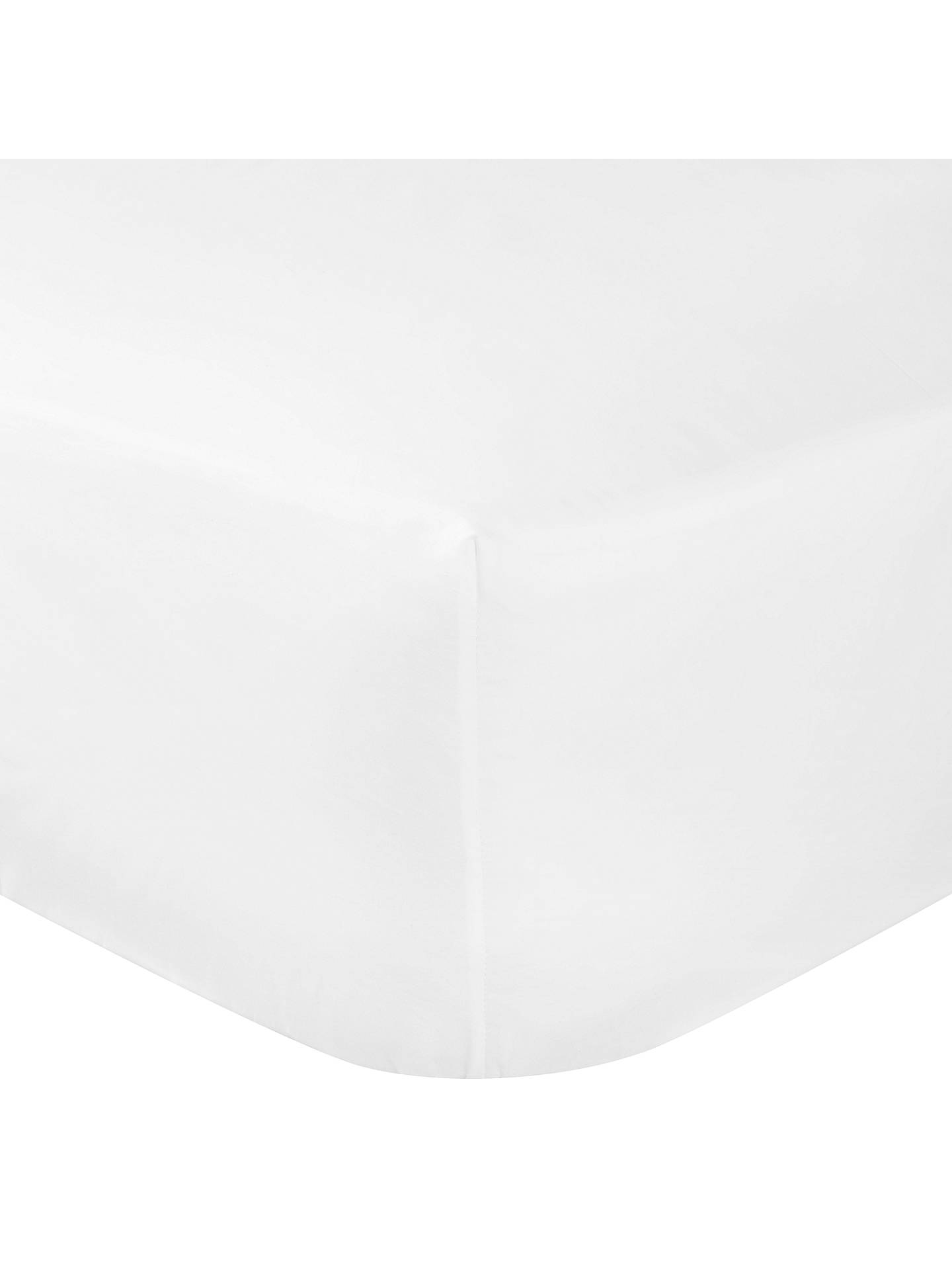 Buy John Lewis & Partners Crisp & Fresh Egyptian Cotton 800 Thread Count Deep Fitted Sheet, Single, White Online at johnlewis.com