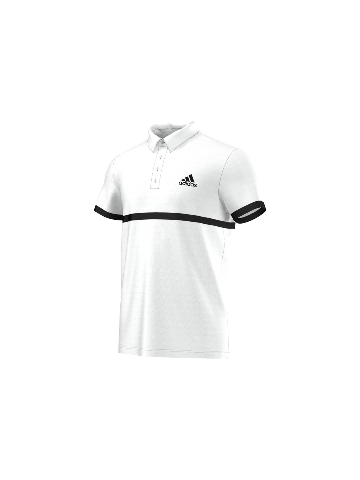 199792c3 Buy Adidas Tennis Court Polo Shirt, White, S Online at johnlewis.com ...
