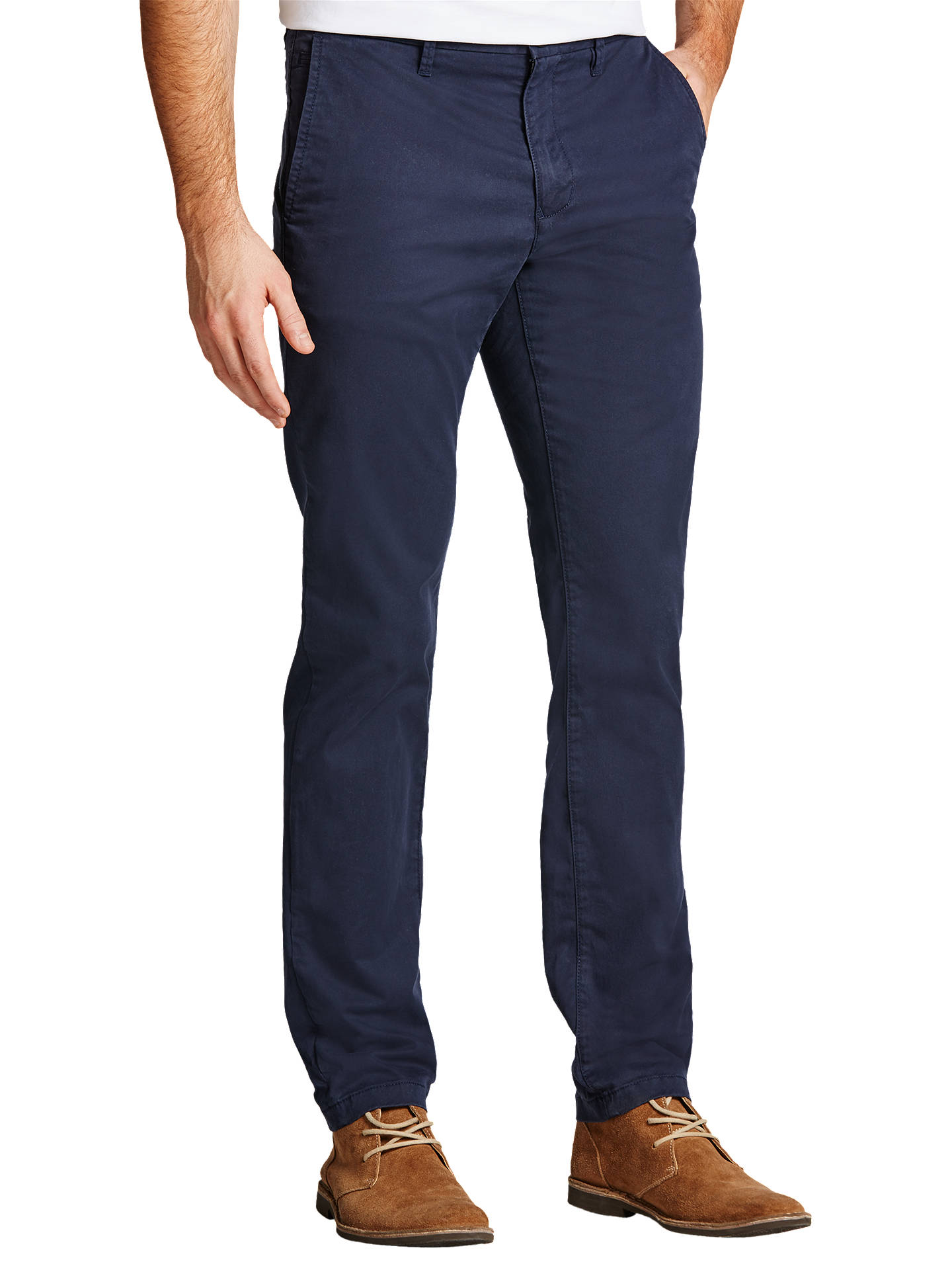b766779e746 Buy Tommy Hilfiger Denton Organic Twill Chinos, Midnight, 38R Online at  johnlewis.com ...
