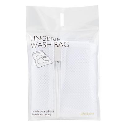 Product photo of John lewis mesh laundry bag white