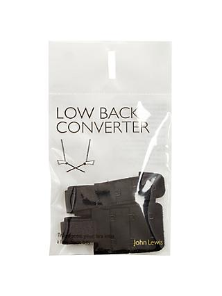 John Lewis & Partners Low Back Converter Straps, Black