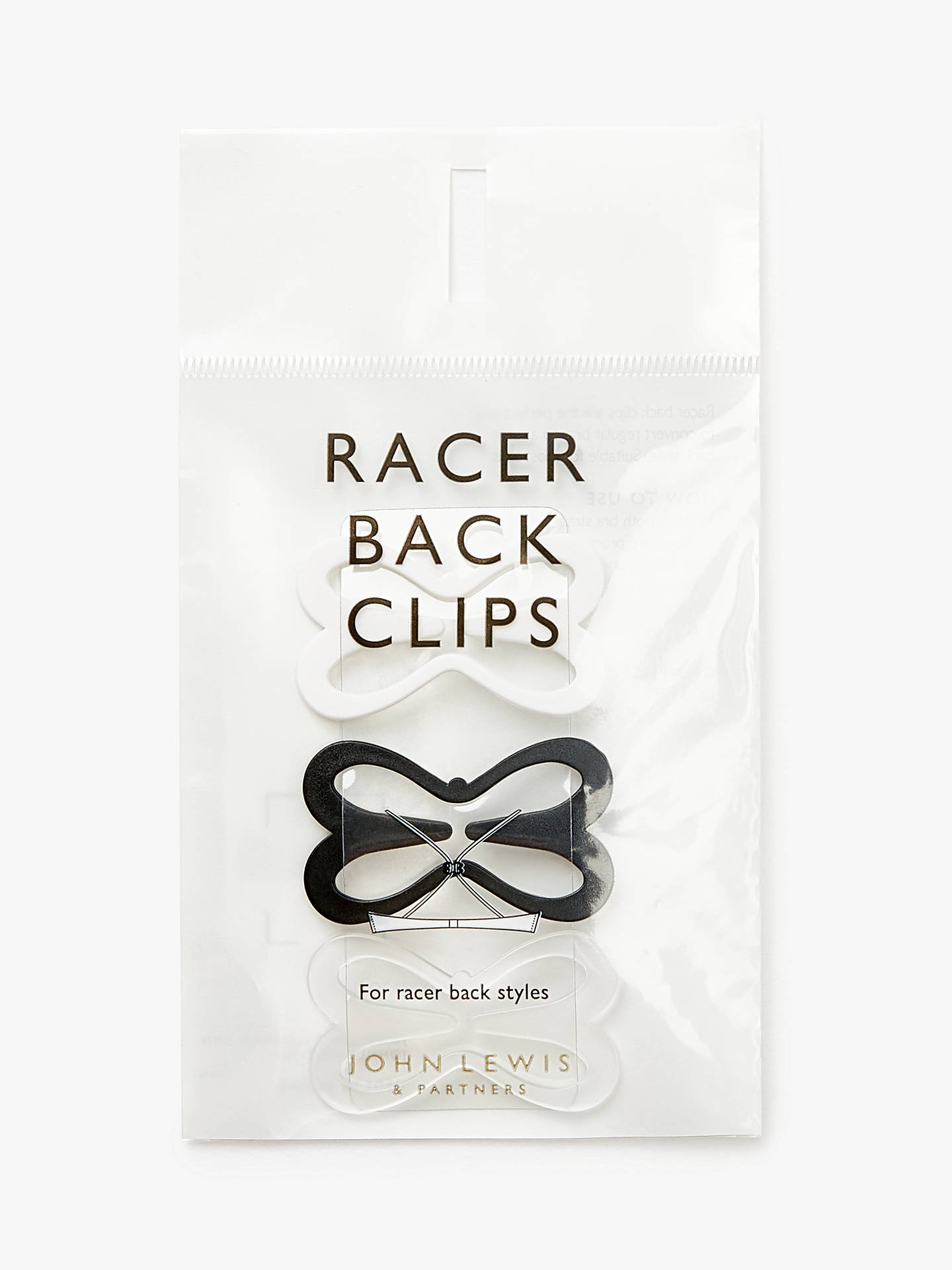 BuyJohn Lewis & Partners Racer Back Clips, Multi Online at johnlewis.com