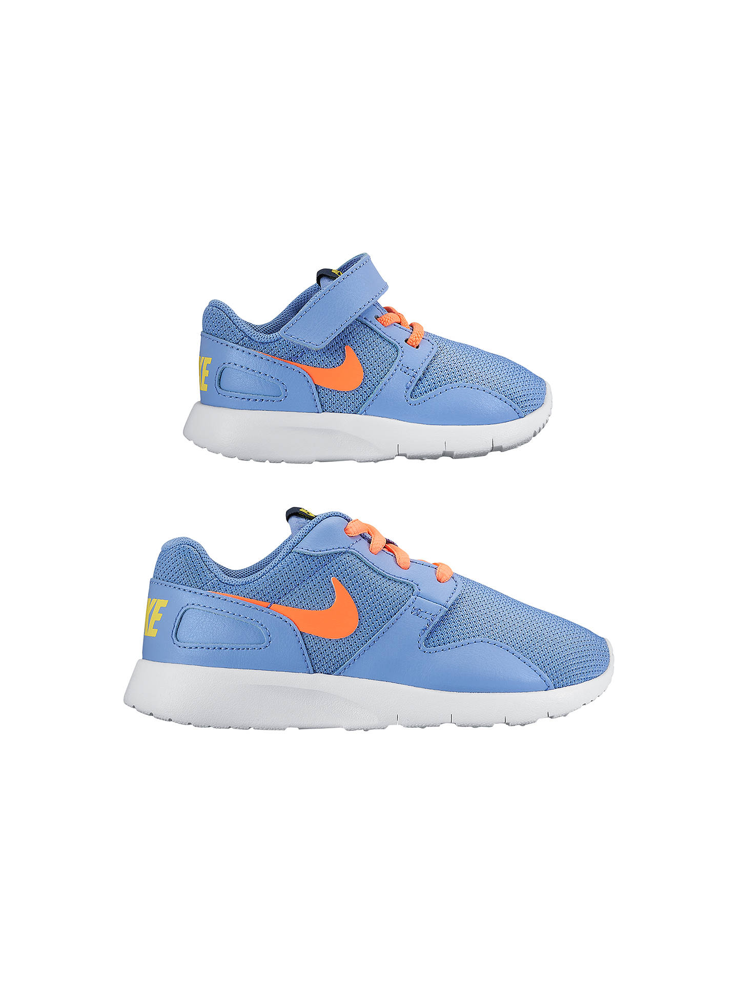 buy online bf0f8 82222 Buy Nike Kaishi Sports Trainers, Blue Orange, 5 Online at johnlewis.com ...