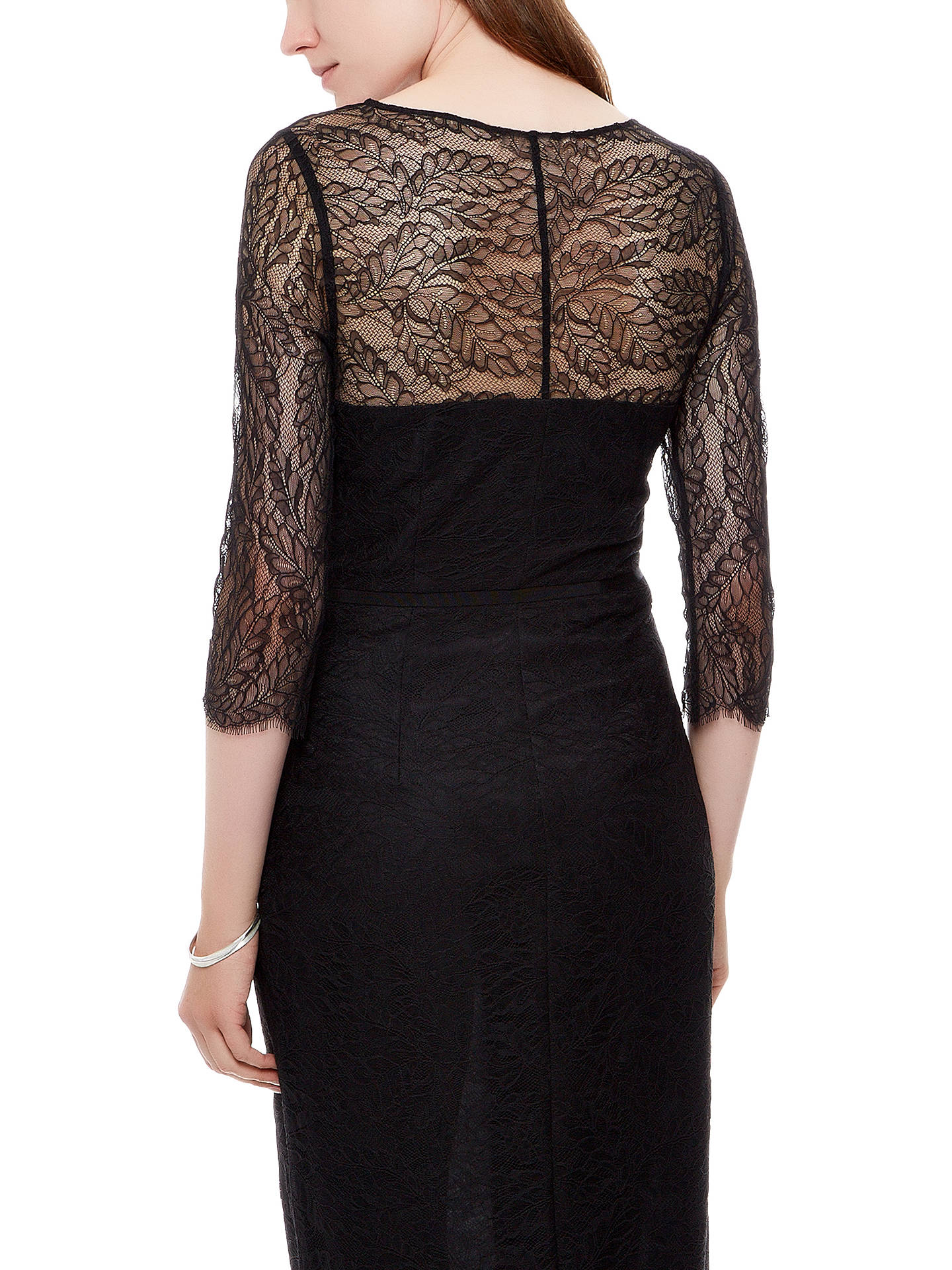 Buy Jaeger Lace Maxi Dress, Black, 10 Online at johnlewis.com