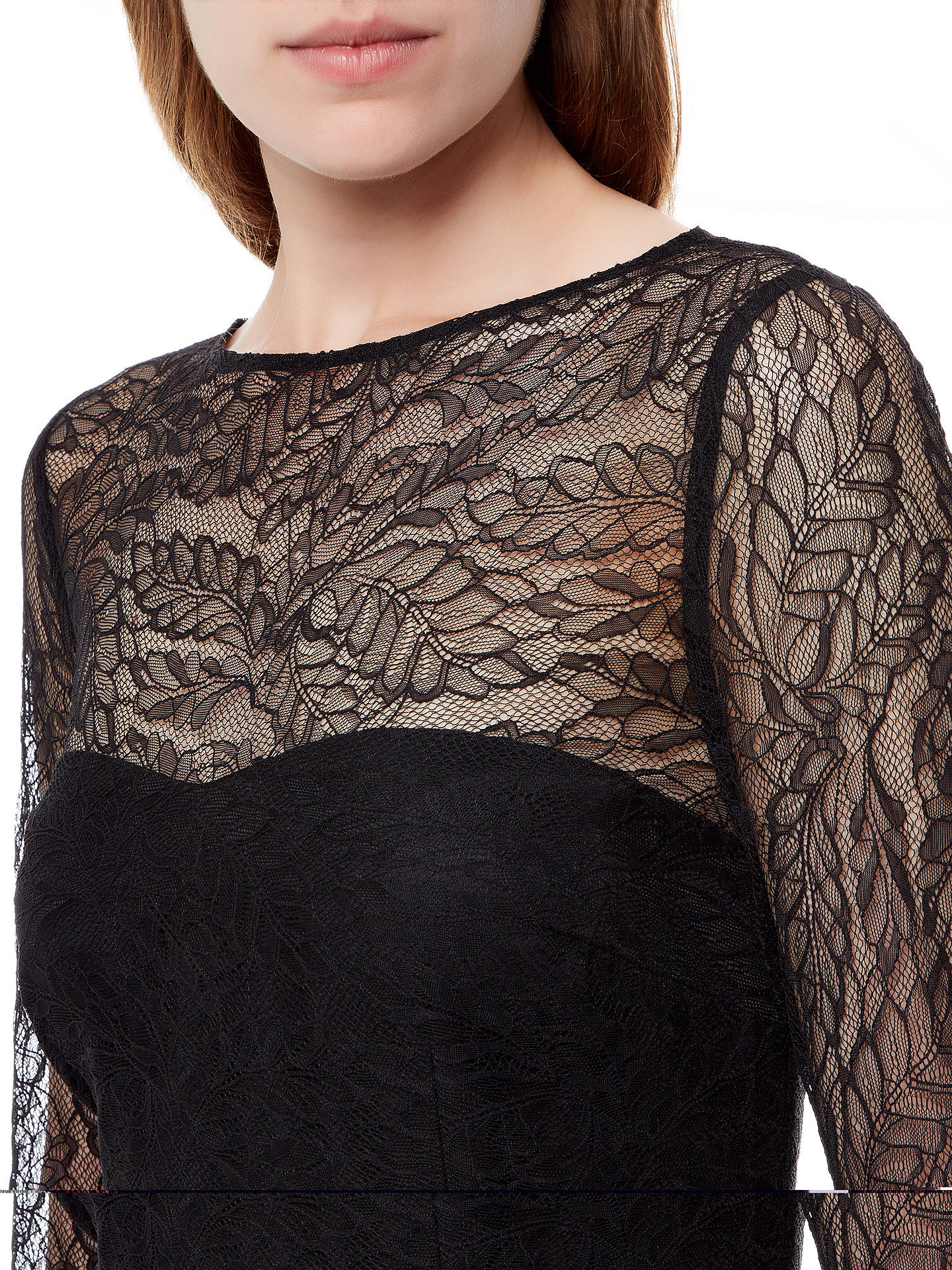 Buy Jaeger Lace Maxi Dress, Black, 6 Online at johnlewis.com