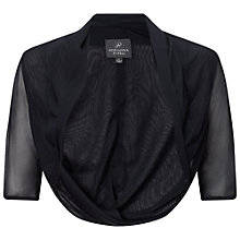 Buy Adrianna Papell Twist Back Tulle Bolero, Ink Online at johnlewis.com