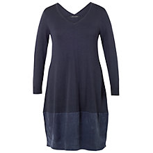 Buy Chesca Jersey Cupro Trim Dress, Navy Online at johnlewis.com