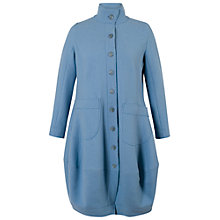 Buy Chesca Barrel Hem Tab Trim Coat, Powder Blue Online at johnlewis.com