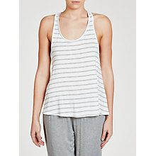Buy Splendid Stripe Vest Top, White/Grey Online at johnlewis.com
