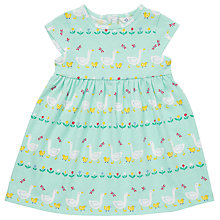 Buy John Lewis Baby Goose Print Jersey Dress, Green Online at johnlewis.com