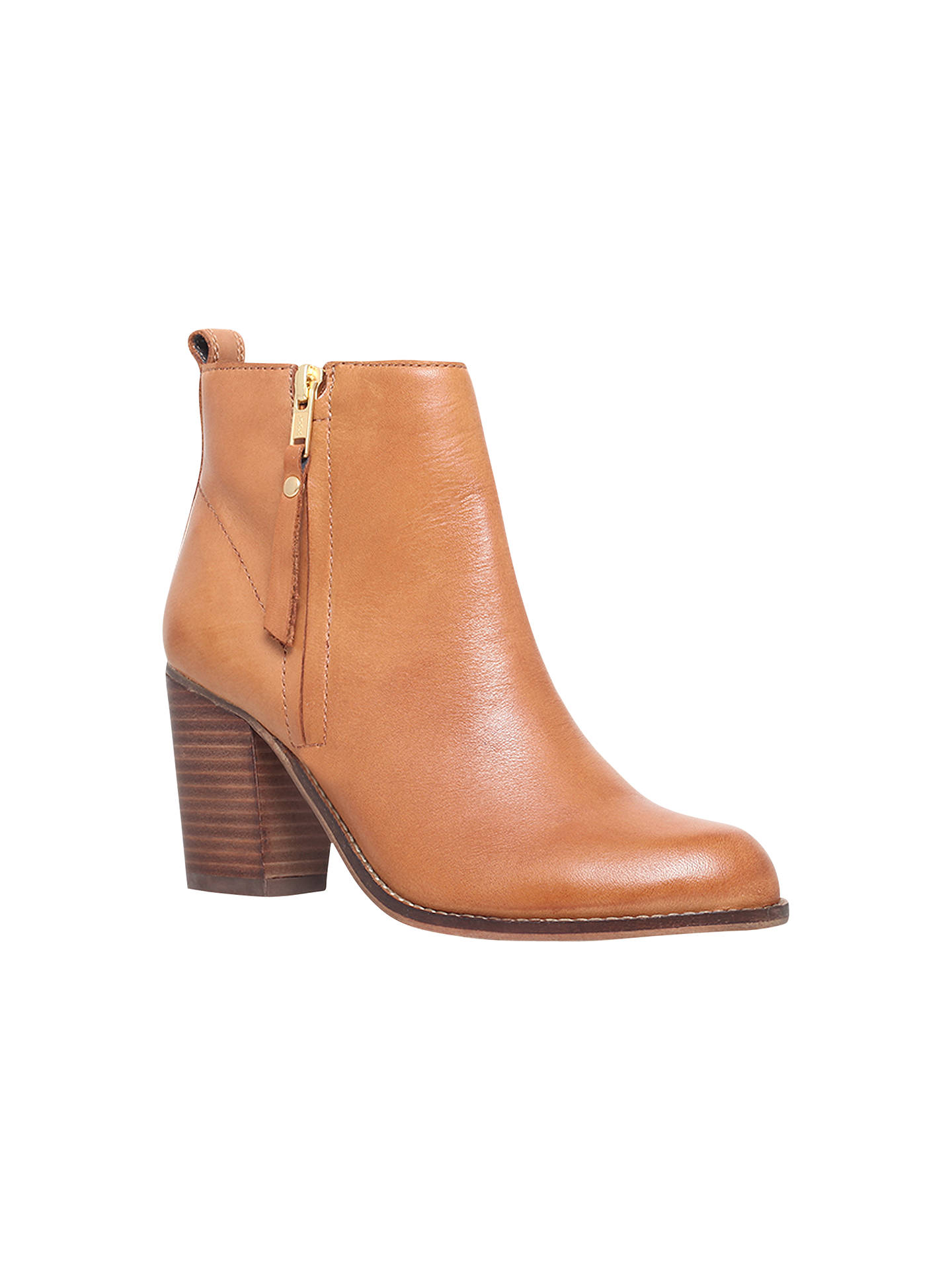 4fe6d04d3b15 Buy Carvela Tanga Block Heeled Ankle Boots, Tan Leather, 4 Online at  johnlewis.