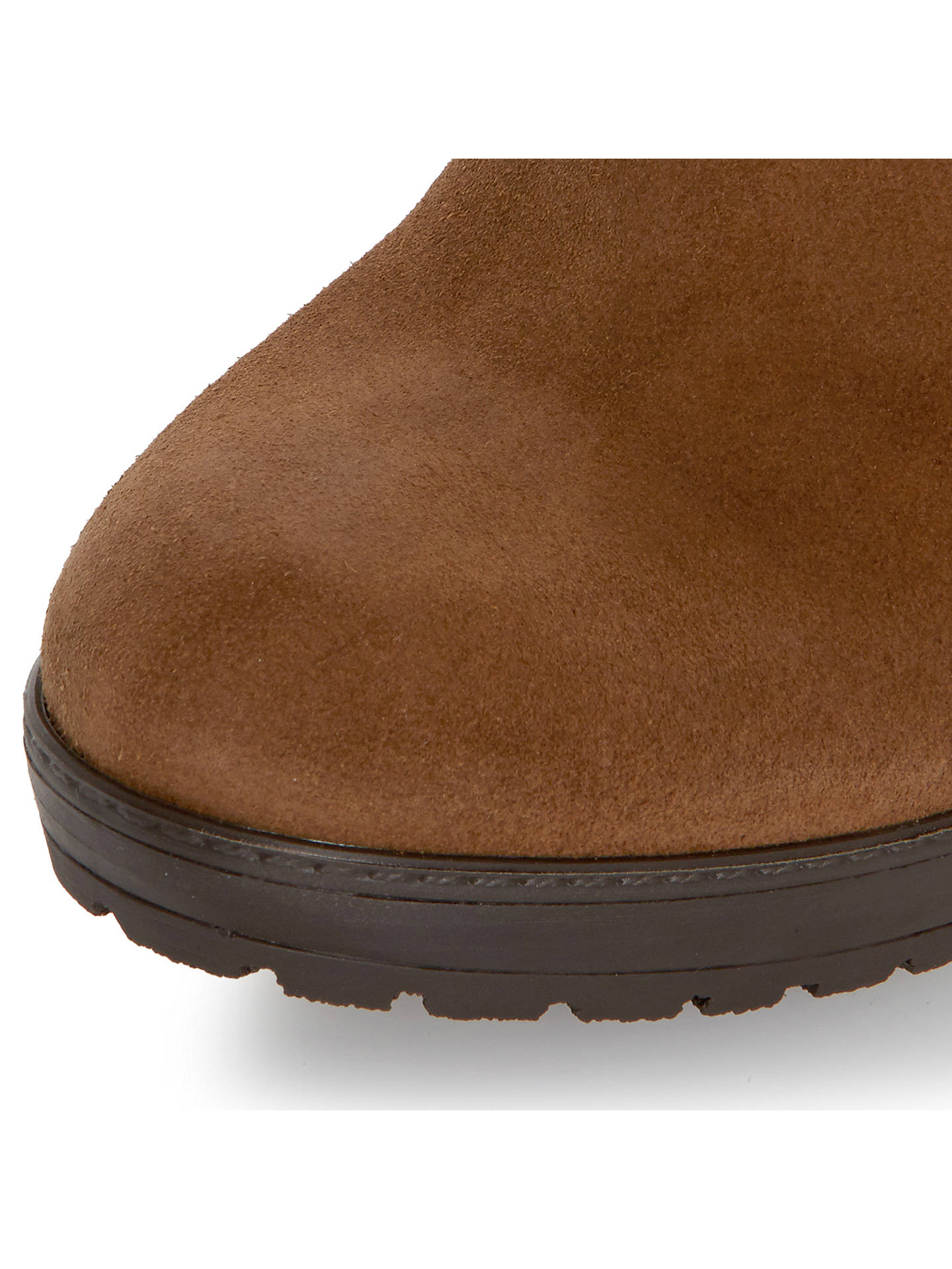 0c60201d9dd51 Dune Stetson Block Heeled Fringe Detail Knee Boots at John Lewis ...