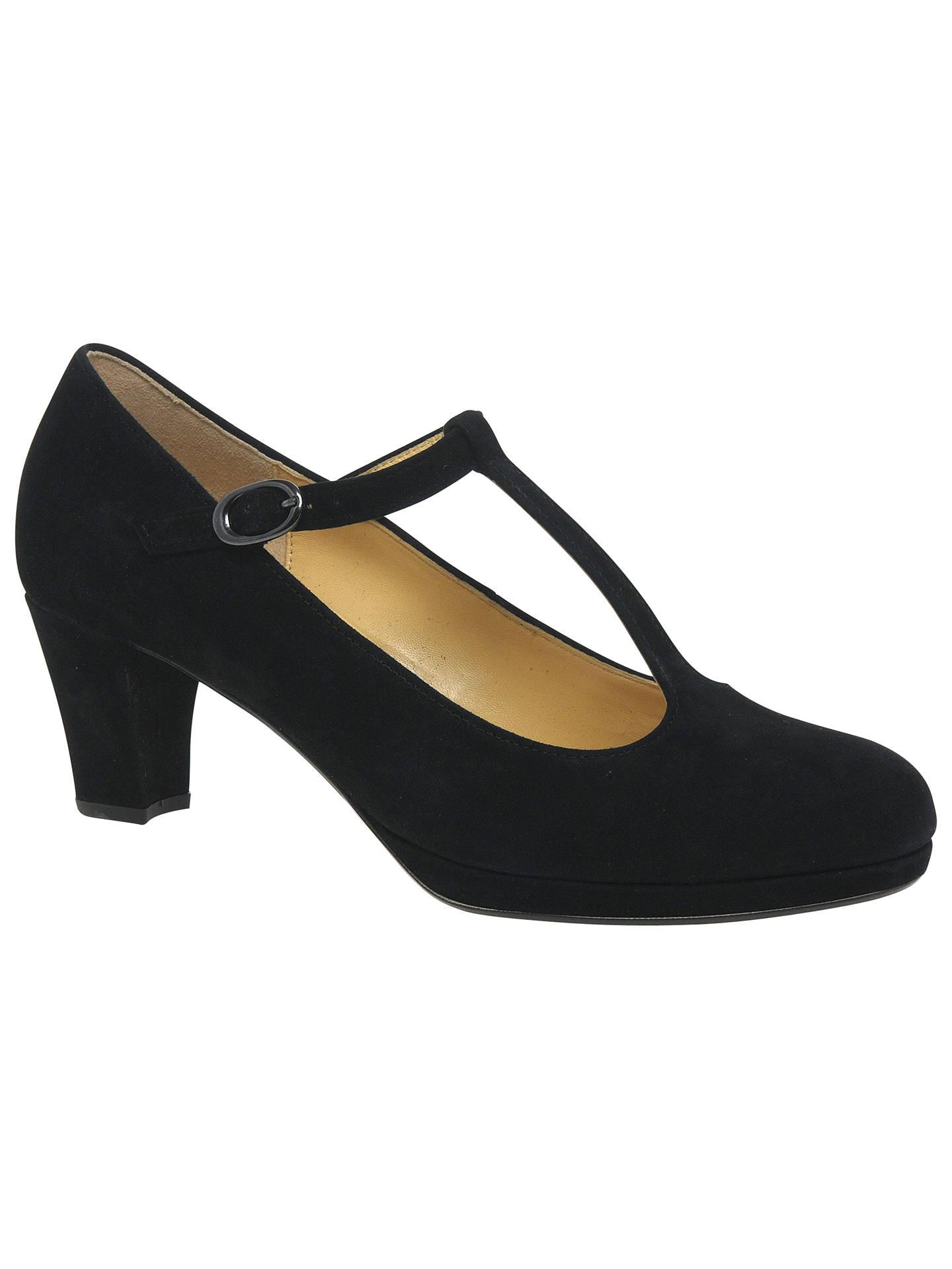 Buy Gabor Kurve T-Bar Block Heeled Court Shoes