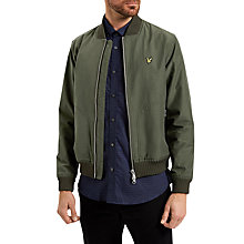 Buy Lyle & Scott Bomber Jacket, Dark Sage Online at johnlewis.com