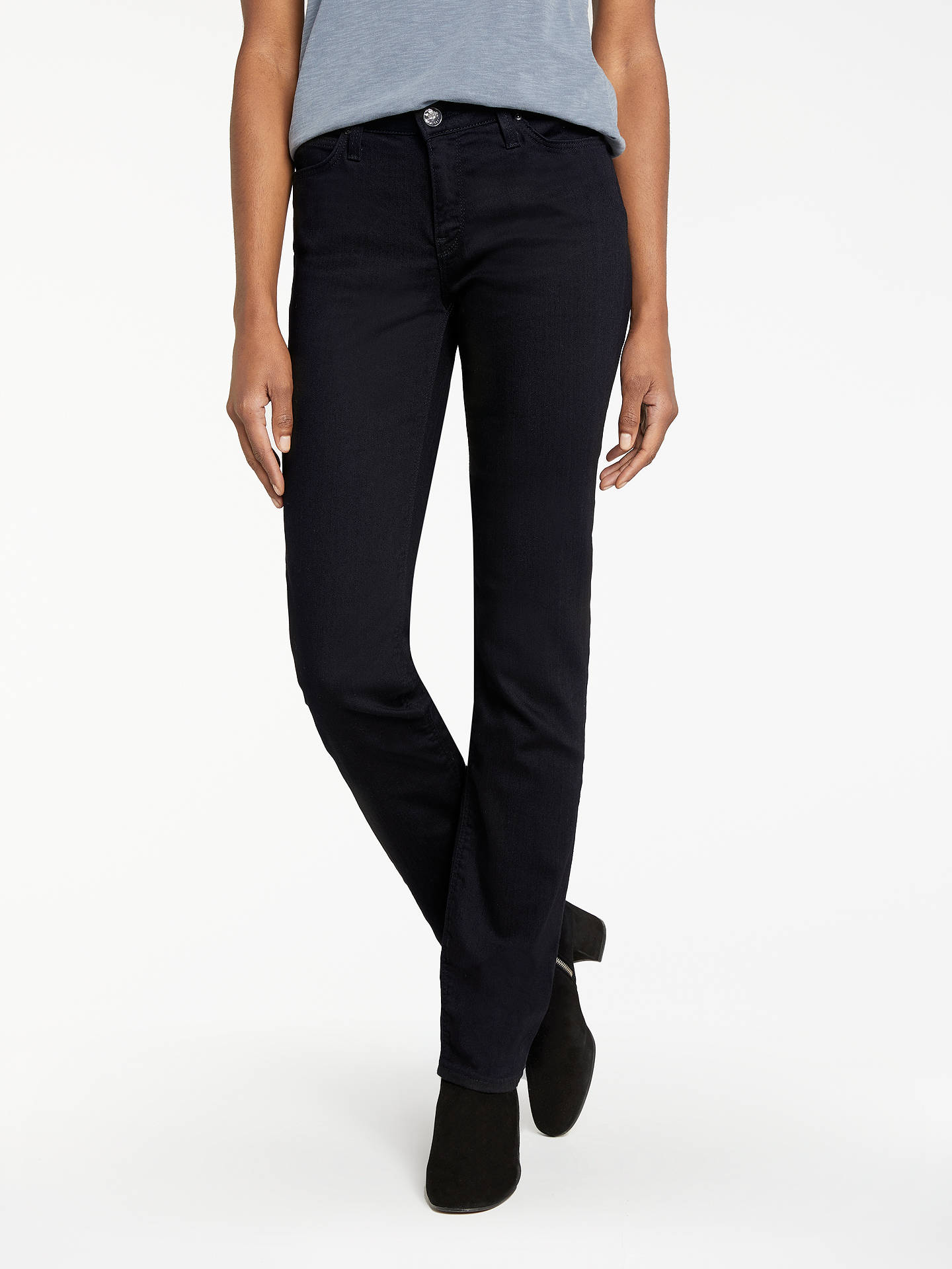9e177868 Buy Lee Marion Regular Straight Leg Jeans, Black Rinse, W27/L31 Online at  ...