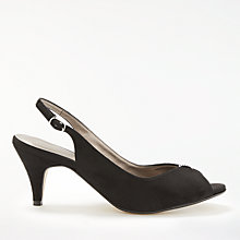 Buy John Lewis Dainty Sling Back Kitten Heeled Sandals, Black Online at johnlewis.com