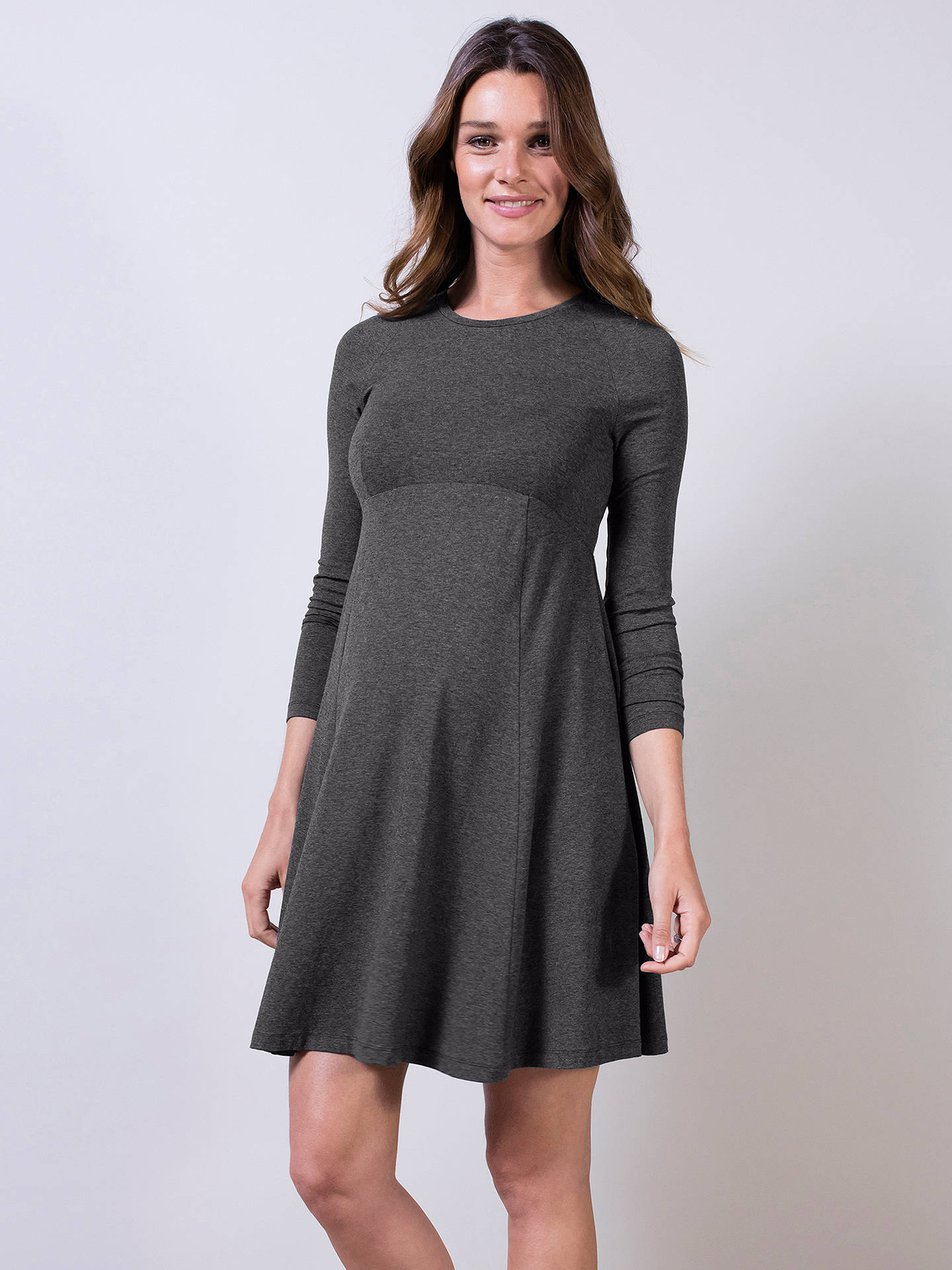 Isabella Oliver Danbury Maternity Dress Dark Grey Melange At John Lewis Partners