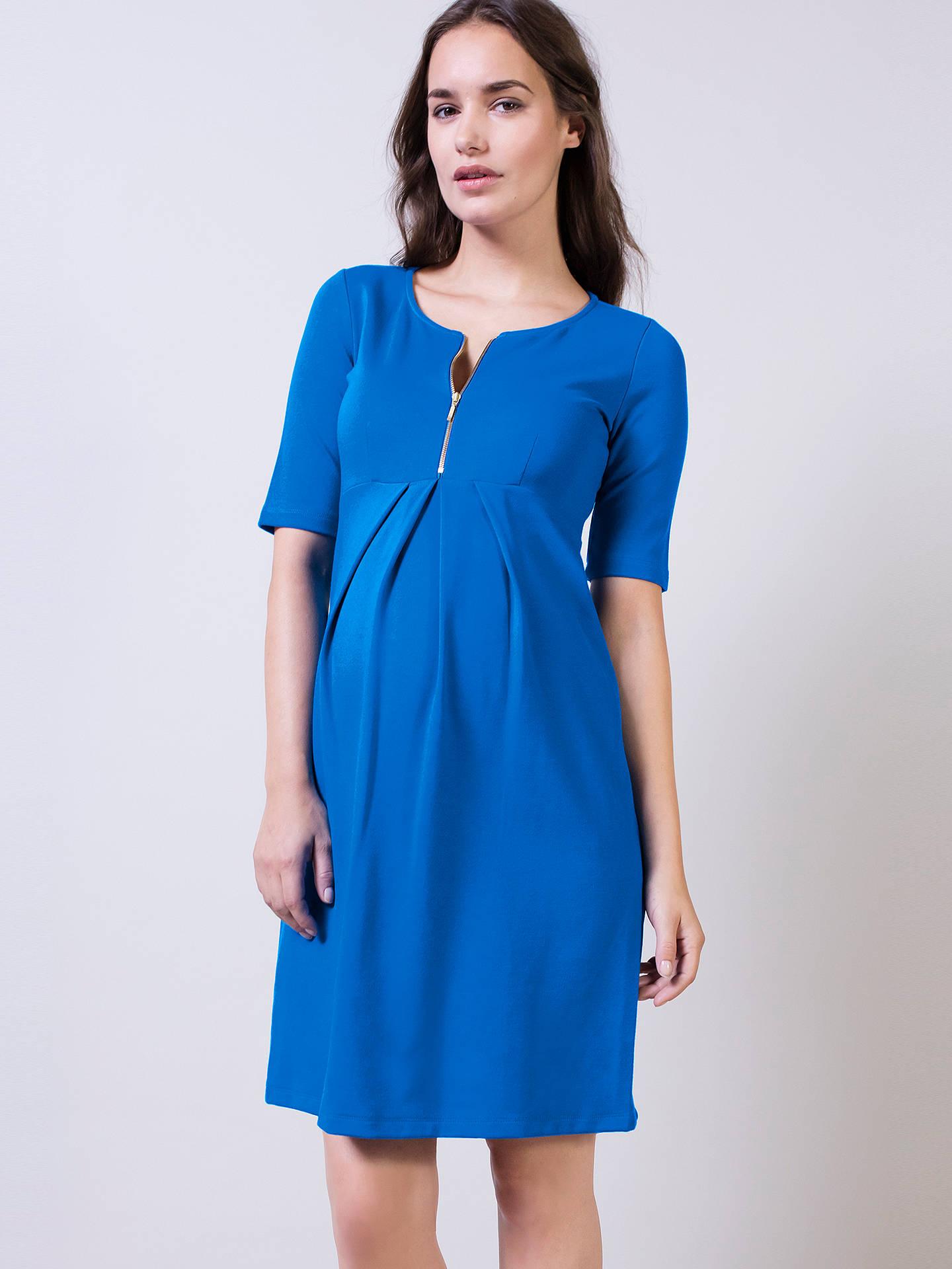 d0573e897d934 Buy Isabella Oliver Earlham Zip Maternity Nursing Dress, Blue, 8 Online at  johnlewis.