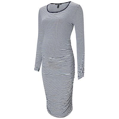 Isabella Oliver Betty Stripe Maternity Dress, Navy/White