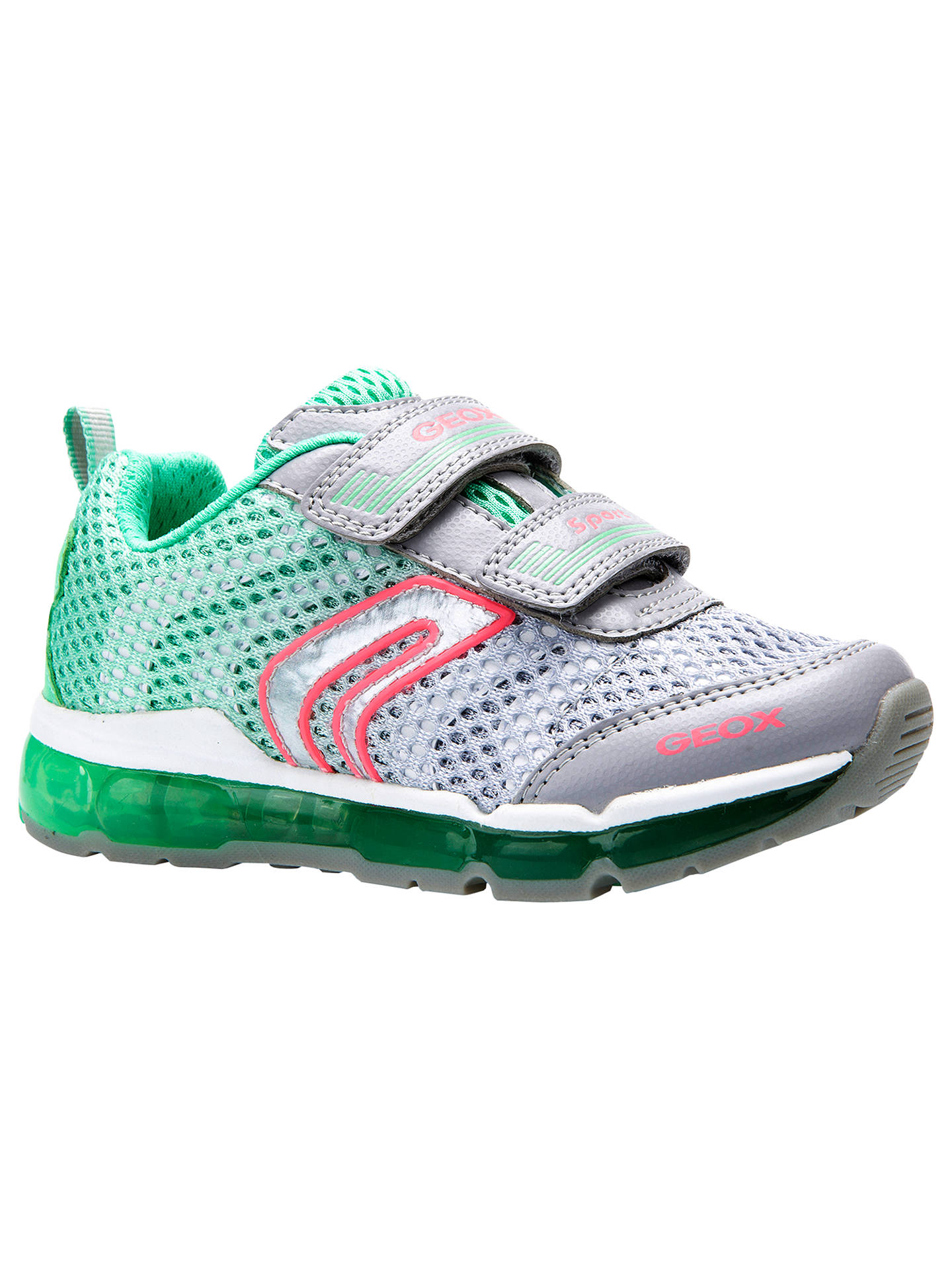 UK Geox respira android girl kids shoes in gray mint girl :