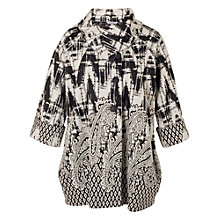 Buy Chesca Paisley Border Coat, Black/Ivory Online at johnlewis.com
