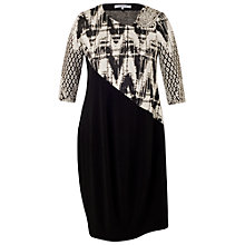 Buy Chesca Paisley Jacquard Dress, Black/Ivory Online at johnlewis.com