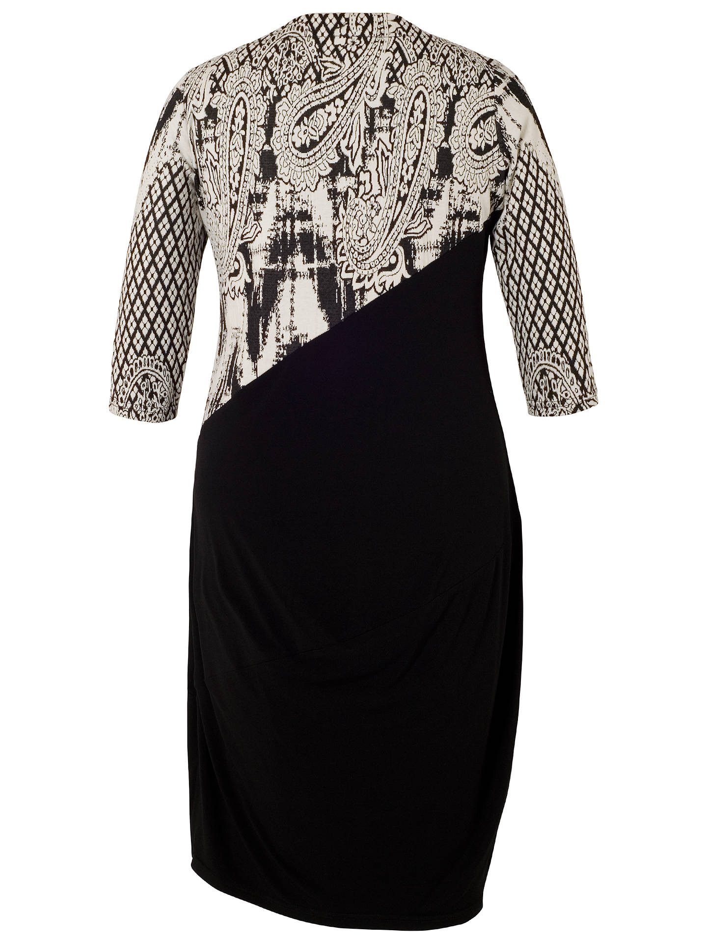BuyChesca Paisley Jacquard Dress, Black/Ivory, 12-14 Online at johnlewis.com