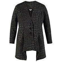 Buy Chesca Diamond Jacquard Jersey Jacket, Charcoal Online at johnlewis.com