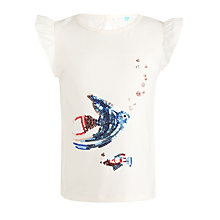 Buy John Lewis Girls' Fish Sequin T-Shirt, White Online at johnlewis.com