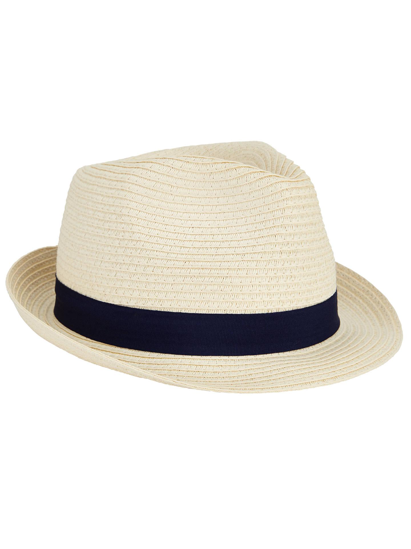 BuyJohn Lewis Packable Braid Ribbon Trilby Hat 24ffb1258934