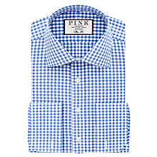 Buy Thomas Pink Summers Check Slim Fit Double Cuff XL Sleeve Shirt Online at johnlewis.com