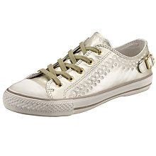 Buy Ash Virgo Lace Up Trainers, Gold Online at johnlewis.com