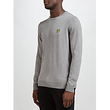 Buy Lyle & Scott Crew Neck Cotton Merino Jumper, Grey Online at johnlewis.com