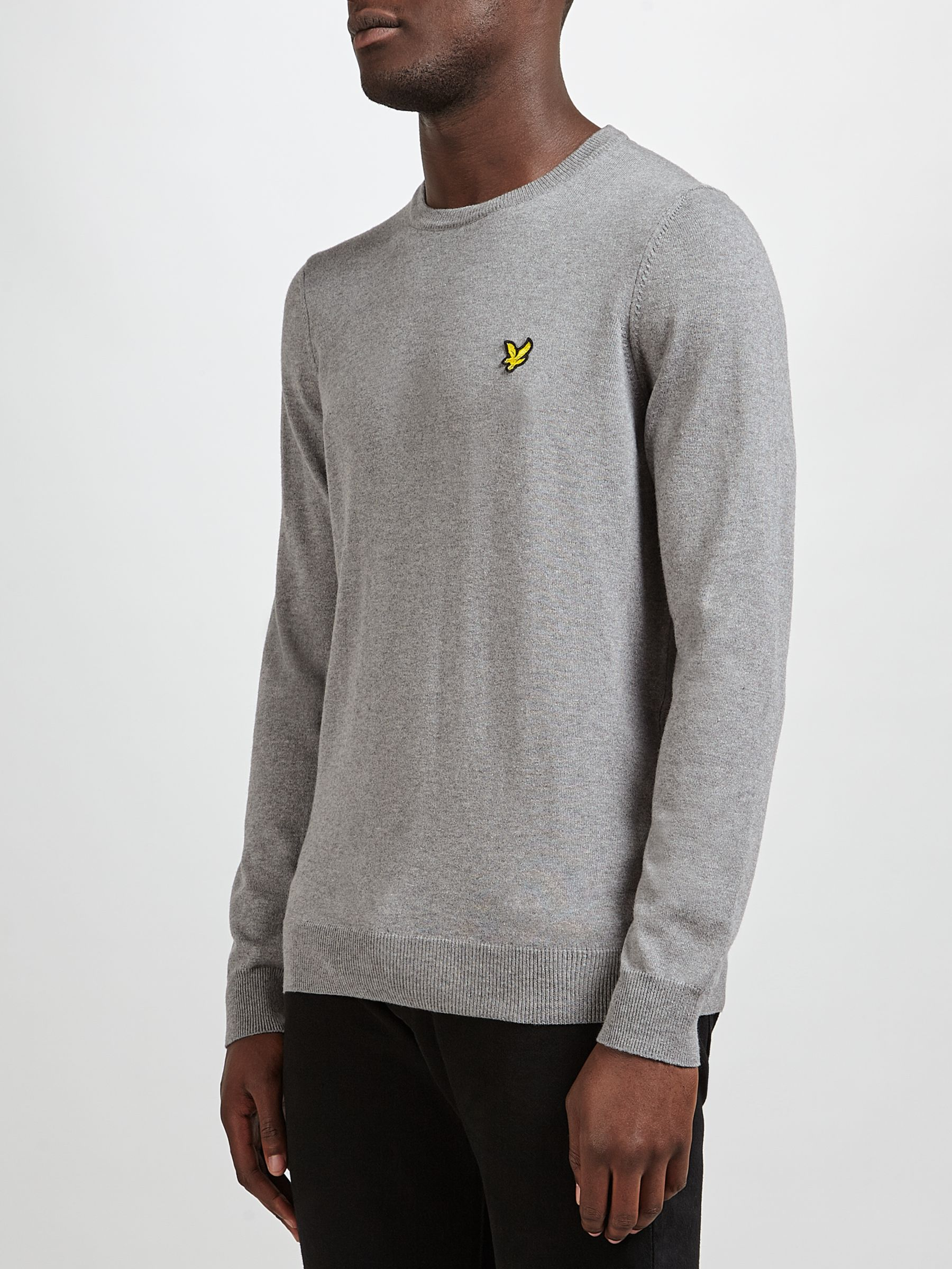 Lyle & Scott Lyle & Scott Crew Neck Cotton Merino Jumper, Grey