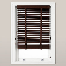 Buy John Lewis Wood Venetian Blind, 50mm, FSC-certified, Espresso Online at johnlewis.com