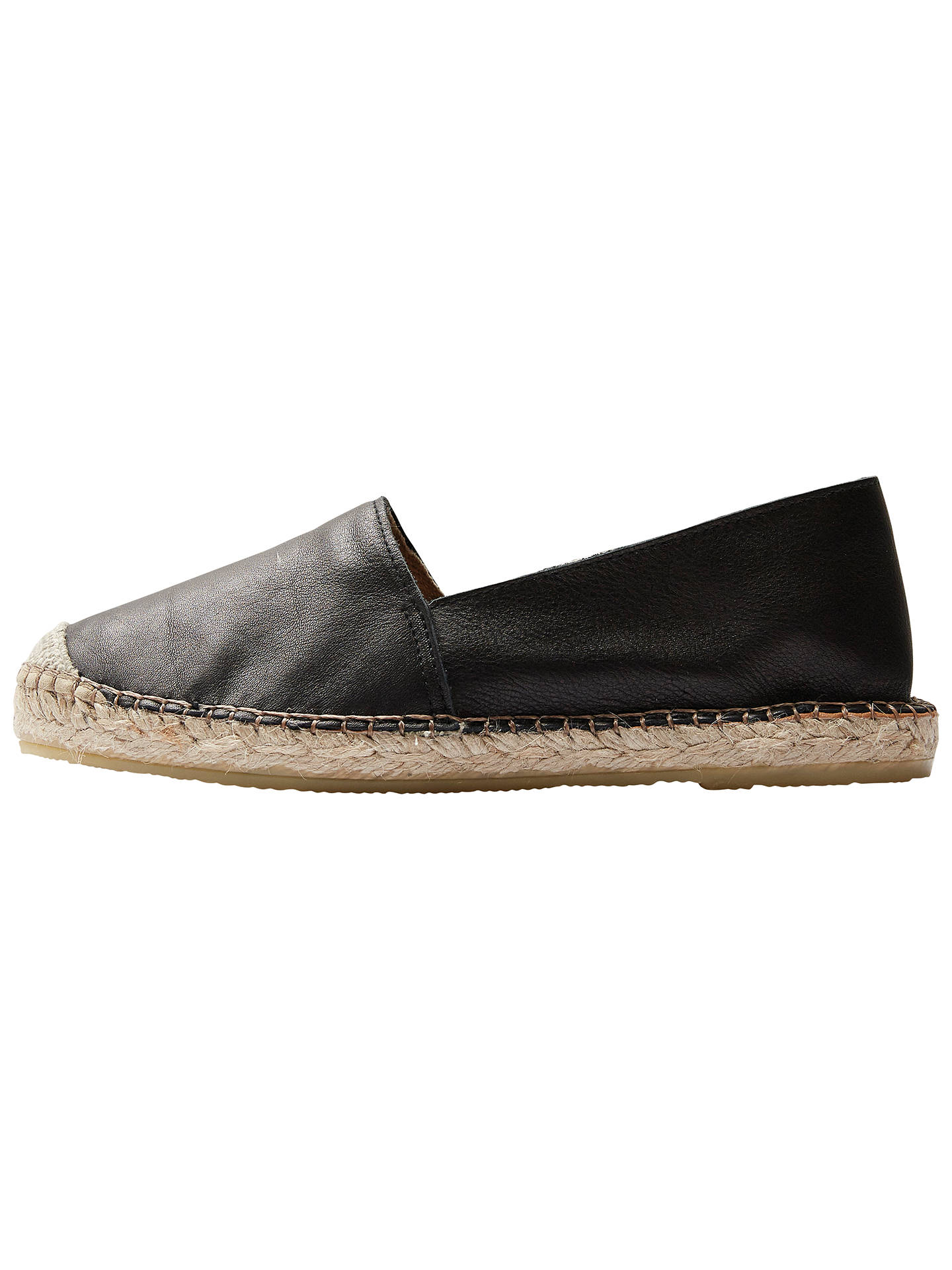 e4960327dfc8 Selected Femme Marley Leather Slip On Espadrilles at John Lewis ...